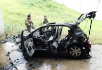 Driver seriously injured in fiery crash on F.E. Everett Turnpike