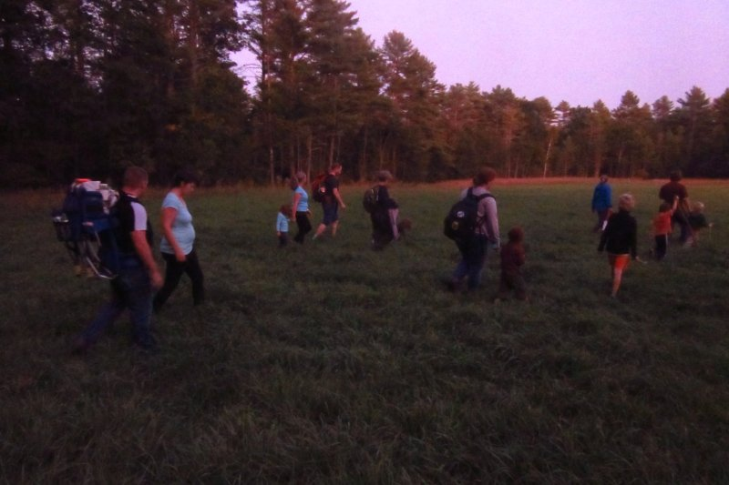 Turns out kids like the nightlife, too: MOOSE-ies have a ball at twilight walk