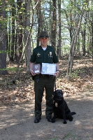 Strafford man, K-9 partner, net Conservation Officer of the Year award
