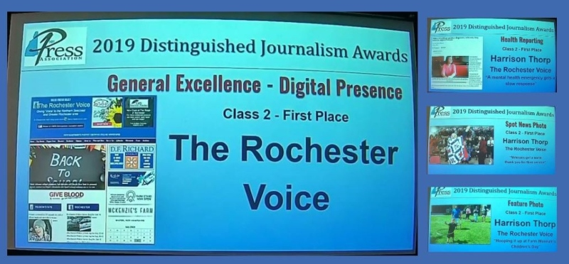 Rochester Voice wins four firsts, six awards in all during NHPA awards ceremony