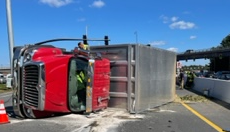 Speed blamed in dump truck rollover that snarled traffic near Rockingham Mall
