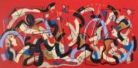 Matt Pidgeon's passion for music, colors come through on canvas