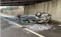 Mass. woman killed in rollover crash on Spaulding Connector near Exit 4