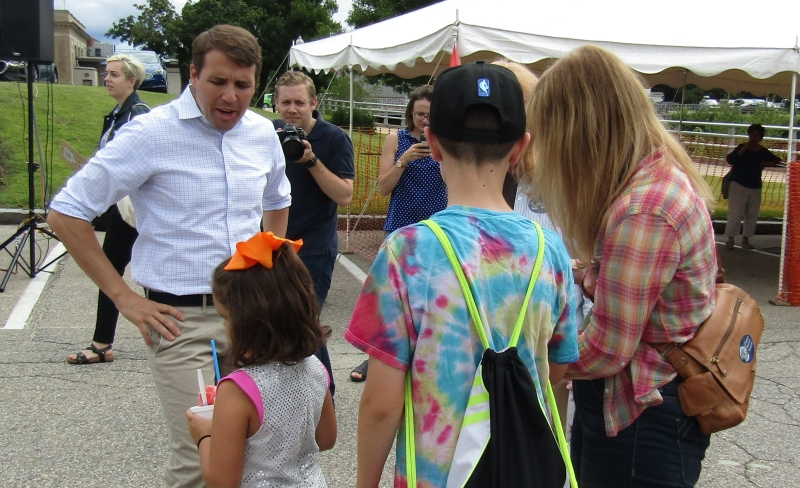 US. Rep. Pappas lends star power to Rochester's annual Pride Day party