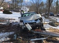 Rochester man injured  in crash into utility pole
