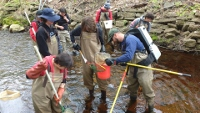 Spaulding student field trip measures health of Rochester's streams