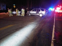 Three hurt in two-car crash on Rochester Hill