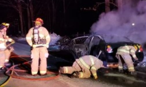 Farmington man gets 2nd DWI after car erupts in flames on Salmon Falls Road
