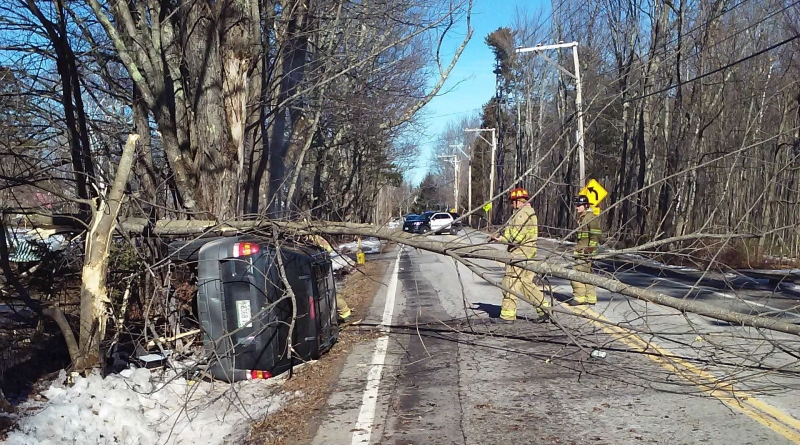 Lebanon man injured in Salmon Falls Road rollover