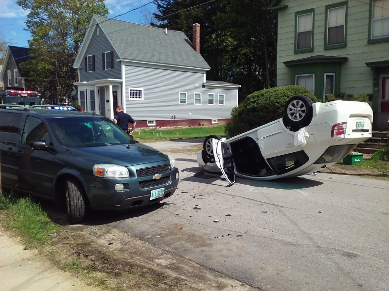One sent to hospital after flukish Rochester rollover