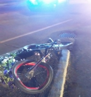 Youngster  struck in the downtown while riding bike