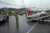 Two-car crash snarls afternoon traffic on North Main