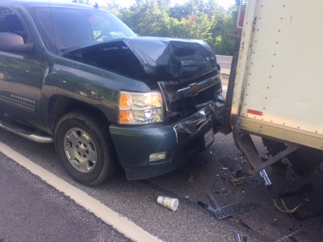 Two sent to hospital after two-vehicle crash on Rt 11