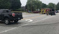 One hurt in morning crash that shut down Gonic Road about an hour