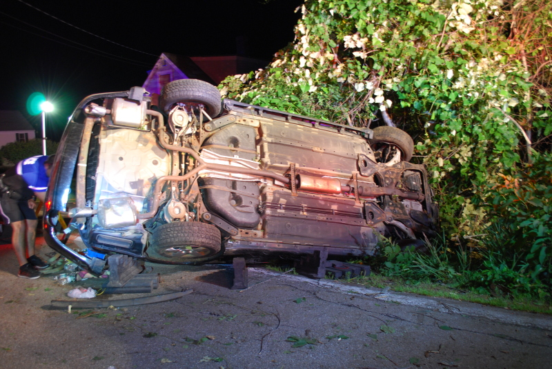 Rochester woman Medflighted after Ten Rod Road rollover
