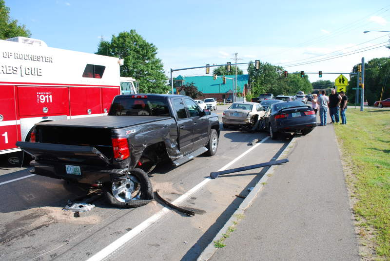 Wild five-car crash snarls Friday afternoon commute