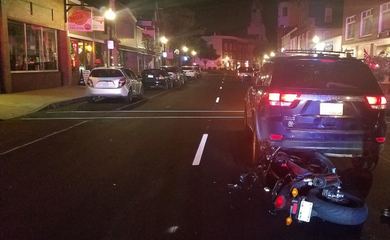 Distracted riding being blamed on late-night motorcycle-SUV crash