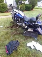 City motorcyclist gets minor injury in Portland St crash
