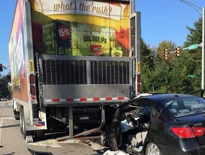 Teen involved in accident with box truck released from hospital same day