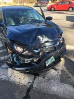 City woman hurt in 2-car crash on Rochester Hill Road