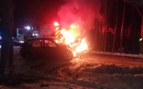 East Rochester man among injured in fiery Salmon Falls Road crash