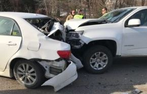Police blame speed in four-car crash that injured two; Farmington man charged