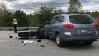 Maine motorcyclist seriously hurt in Gonic crash
