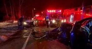 Two injured in head-on crash on Rochester Hill Road