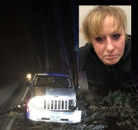 City woman tracked down in woods by K9 after fleeing accident scene