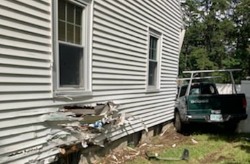 Farmington man arrested for DUI after driving pickup into Charles St. residence