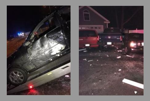Rochester man seriously injured when car hits icy patch, slams into parked vehicles
