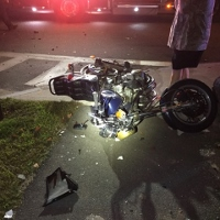 City motorcyclist seriously injured in Wash. St. collision