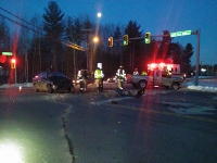 Two injured, one cited in Farmington Road collision