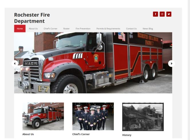 Rochester Fire Department rolls out new website