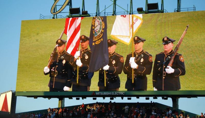 Rochester Police Honor Guard hits one out of the park at Fenway