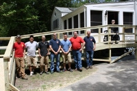 Firefighters answer the call to build wheelchair ramp