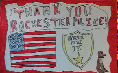 To Rochester Police from the residents of Rochester: THANK YOU!