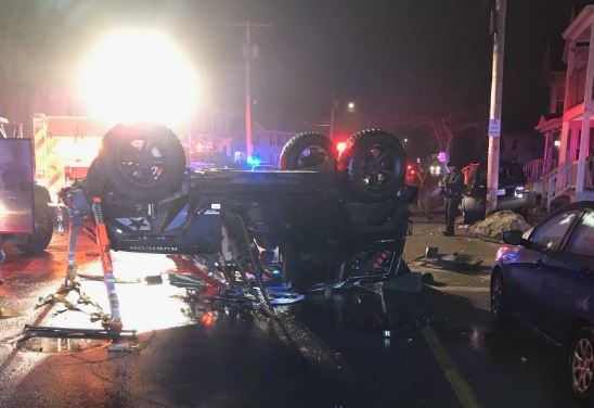 East Rochester man dies in late night rollover on North Main St.