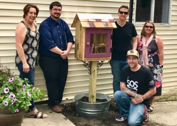 Walk-bys welcome: Rochester's Little Free Library open for business