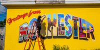 City, grassroots improvement group, celebrate completion of mural