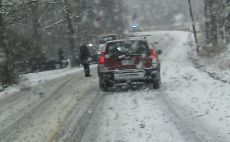 Slick roads lead to flurry of accidents, but luckily no serious injuries