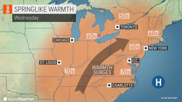 March gladness: Get ready for a shot of warmth that'll see temps hit 60