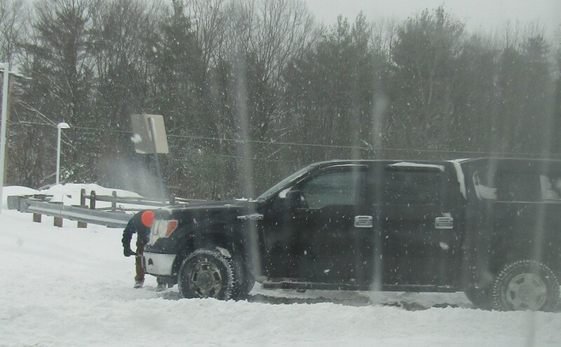 Even with four-wheel drive, it was rough; for others it was rougher