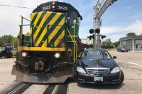 Rochester driver hurt in accident involving freight train