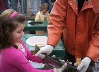 Forum on land-locked salmon explains life cycle to kids