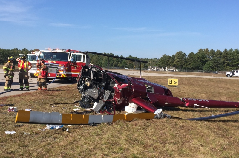 Maine man severely injured in Sanford helicopter crash