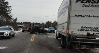 Sanford infant Lifeflighted, Mass. truck driver charged in Waterboro crash