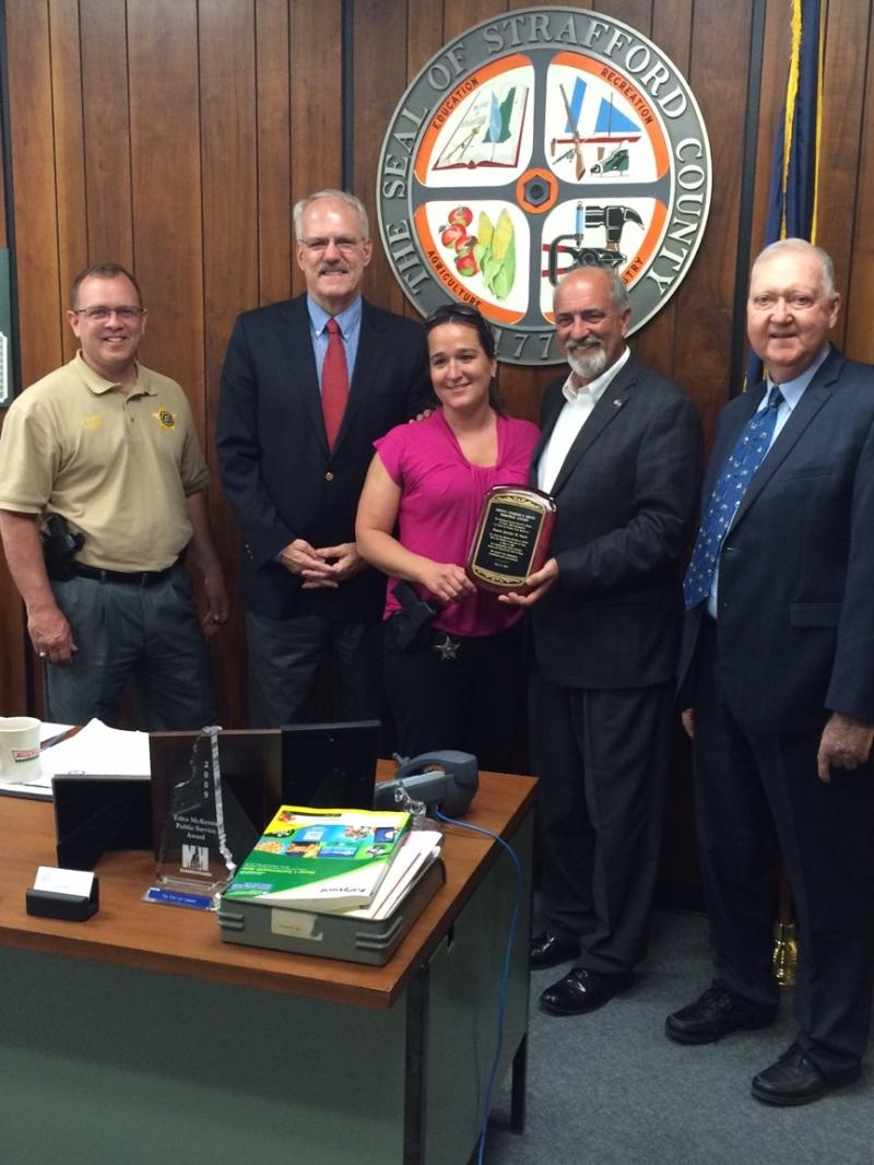 Sheriff's Deputy Payne wins Deputy Smith award