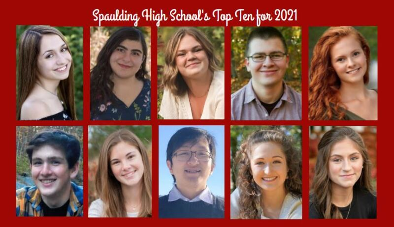 Spaulding High School names its top 10 for Class of 2021