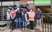 Somersworth Girl Scouts collect clothes to benefit nonprofits
